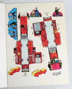 M038 Vintage Fire Department Punch Out Book from Resource Unpunched 1961   eBay