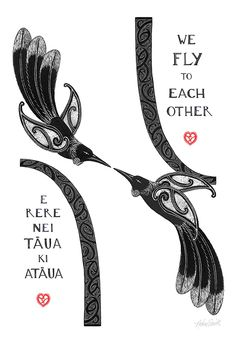 We Fly to Each Other - by Amber Smith. Nz Art, Art For Art Sake, Waitangi Day, Maori Designs, New Zealand Art, Maori Art, Kiwiana, Indian Art, Light In The Dark