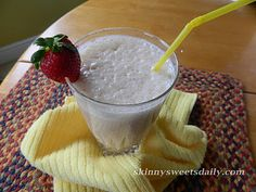 Skinny Sweets Daily: Pick Me Up Morning Smoothie. A healthy treat anytime of day. Enjoy! Click the pic for recipe!