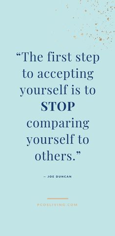 first step to accepting yourself is to stop comparing yourself to others. // Quotes about self acceptance // Quotes about self love // Quotes about comparison // Quotes about envy Finding Yourself Quotes, Comparing Yourself To Others, Quotes About Accepting Yourself, Quotes About Self Love, Self Love Quotes Woman, Envy Quotes, Life Quotes, Qoutes, Road Quotes