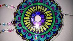 Attrape rêve mandala stylo charpie indélébile avec perle chambre cuisine salon