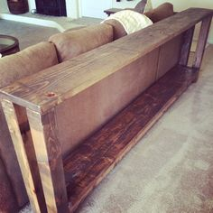 Reclaimed Wood Sofa Table / Console Table on Etsy, $399.00