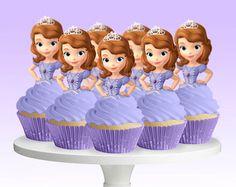 Princess Cupcake Toppers Cinderella Belle by CreativeTouchhh