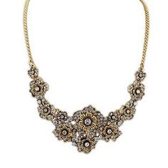 European And American Retro Palace Delicate Flower Necklace Women