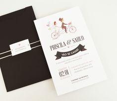 Convite moderno love bike
