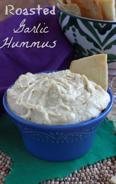 Roasted Garlic Hummus is pure flavor.  You will want to eat this with a spoon or at least get some big scoops with your favorite veggies or chips.