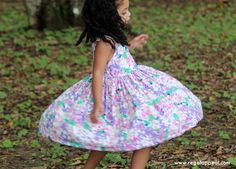 DIY - Toddler - Floral Flutter Back Dress - Micheal Miller Fabric - Spring Fling - Belize -  Children's Clothing