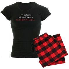 Amazon.com: Watching Supernatural Women's Dark Pajamas Women's Dark... ($40) via Polyvore