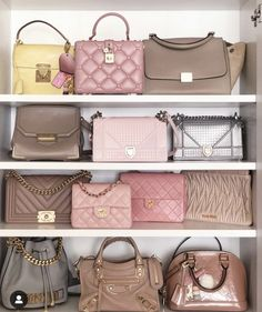 Find images and videos about chanel, bags and Louis Vuitton on We Heart It - the app to get lost in what you love. Luxury Purses, Luxury Bags, Luxury Handbags, Dior Handbags, Purses And Handbags, Bag Closet, Mode Rose, Sacs Design, Handbag Storage