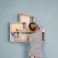 Let your child's imagination soar with ferm LIVING's reinterpretation of the classic doll house, beautifully crafted from natural plywood. With two levels of living space just Girl Room, Girls Bedroom, Room Baby, Baby Bedroom, Kids Decor, Home Decor, Kid Spaces, Kids Furniture, Furniture Stores