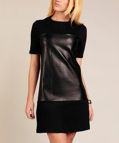 Look at this Black Sheen Contrast Tunic on #zulily today!