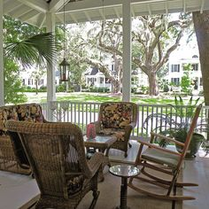While we're featuring great #frontporches in #HabershamSC we have to include the beautiful porch and incredible view from 34 James Habersham Blvd. This bumped-out corner porch space overlooks a Live Oak alley and is only a hint of the #Lowcountry architectural details in this gorgeous home! See more at http://habershamsc.com/34-james-habersham/ #Beaufort #realestate #SouthernLiving #SouthernLivingInspiredCommunity
