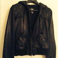 Aqua Jackets & Blazers - Aqua Leather Jacket