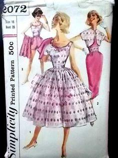 Vintage Simplicity pattern 2072 misses blouse by vintagestyle101, $5.50
