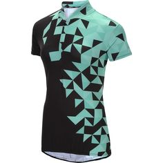 Perform at your peak every time you get on your bike in this Trayl® women's Sublimated Ryde short-sleeve cycling jersey. Dri-Logic® technology pulls energy-zapping sweat away from your skin, while mesh side panels allow for cooling airflow. The half-zip placket delivers a personalized fit and extra venting, and the hem is elasticized to hold its shape. Three pocket options on the back offer on-the-go storage.
