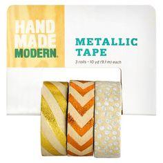 Hand Made Modern Metallic Craft Tape - 3pk