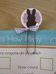 paper clip bunny bookmark