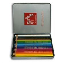 Caran D'Ache Supracolor Artist Quality Water-Soluble Colour Pencils Tin of 18