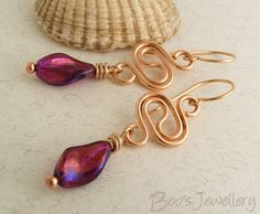 Polished bronze earrings with a squiggle link and by BooJewels, £29.00