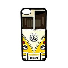 CellPowerCasesTM VW Minibus Yellow Case for iPhone 5c (Black Case) ($9.98) ❤ liked on Polyvore