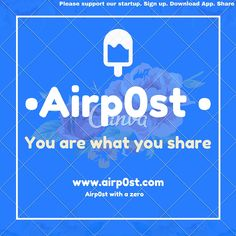 Airpost social startup. Share poster.