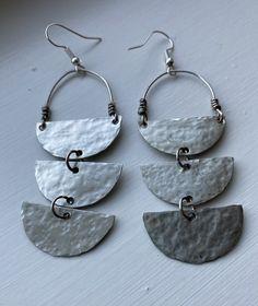 Natural Gemstone Mixed Metal Hoop Earrings Big Hoops Sunstone Flower Brass /& Silver Hoop Earrings Rustic Earrings Boho Jewelry