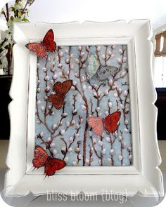 diy 3-D butterfly wall art