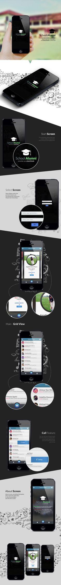 School Alumni Iphone Application concept by Afnizar Nur Ghifari