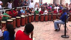 Drum circle: Teach a simple rhythm like this, allow each student to improv after the four beats of clapping.
