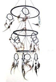 "Feather Dream Catcher Dreamcatcher Native American Style Feather, TRIPLE BLACK -X LARGE - 30""L X 10""D World Bazaar Imports,http://www.amazon.com/dp/B004DAW7JK/ref=cm_sw_r_pi_dp_OCdbtb03QGCZH4FT"
