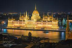 Golden Budapest by Jean-FrancoisChaubard