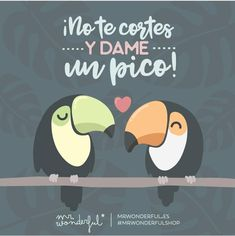 Ave-r cuándo me cae ese beso que yo espero. Don't be shy and give me a peck on the cheek! A little bird told me a kiss is winging itself your way. Crazy Love, Love Is Sweet, My Love, Hj Story, Kissing Quotes, Dad Day, Love Others, Funny Love, Spanish Quotes