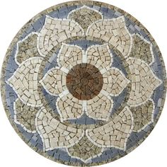 Lotus Mandala | Lótus Mandala Indiana III R0297b Pebble Mosaic, Mosaic Glass, Mosaic Tiles, Stained Glass, Mosaic Crafts, Mosaic Projects, Marble Art, Tile Art, Mosaic Designs