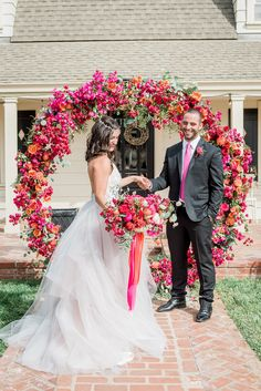Lush Wedding Inspiration with a Bougainvillea Backdrop - photo by 1985Luke Photography http://ruffledblog.com/lush-wedding-inspiration-with-a-bougainvillea-backdrop