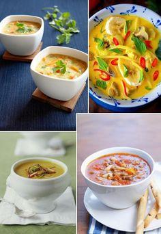 Heiße Suppen-Rezepte für Herbst & Winter #pintowingofeminin