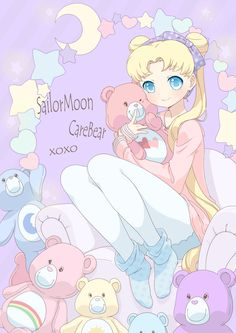 pastel Care Bears & Usagi Tsukino | Sailor Moon | www.zerochan.net