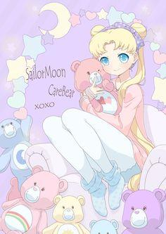 pastel Care Bears & Usagi Tsukino   Sailor Moon   www.zerochan.net