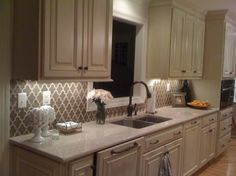 Becky Seidenberg - traditional - kitchen - richmond - Becky Seidenberg- Walker Zanger Vibe Tile in Suede OMGOMGOMG