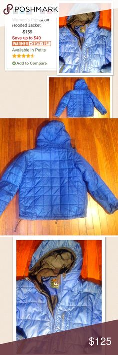 L.L. Bean Nano puff winter jacket Women's Mountain Guide Primaloft Jacket by L.L. Bean. Size: Medium. Blue. Hooded. Chest Pocket. Adjustable waist. full zip. Whether you are out skiing or snowboarding, hiking, snow shoring- this is the jacket to have! Super warm and great for even the coldest temps tagged patagonia for exposure Patagonia Jackets & Coats