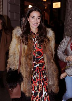 MADRID, SPAIN - NOVEMBER Alessandra de Osma attends the opening of designer Jorge Vazquez's new store on November 2018 in Madrid, Spain. (Photo by Europa Press/Europa Press via Getty Images) Still Image, Madrid, Fur Coat, Stylish, November, Spain, Store, People, Fashion