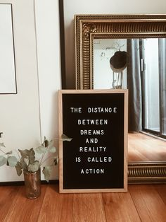 The distance between dreams and reality is called action Reader board Words Quotes, Wise Words, Me Quotes, Motivational Quotes, Inspirational Quotes, Sayings, Great Quotes, Quotes To Live By, Encouragement