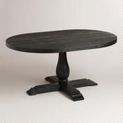 Round to Oval Black Greyson Extension Table $549.00