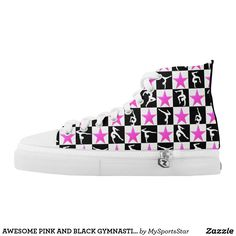 AWESOME PINK AND BLACK GYMNASTICS SNEAKERS Watch your Gymnast dazzle, sparkle and shine in our cool and colorful Gymnastics sneakers. Only available here at Zazzle! https://www.zazzle.com/collections/gymnastics_sneakers-119394231113334715?rf=238246180177746410&CMPN=share_dclit&lang=en&social=true #Gymnastics #Gymnast #WomensGymnastics #Gymnastsneakers #Gymnasticssneakers #Lovegymnastics