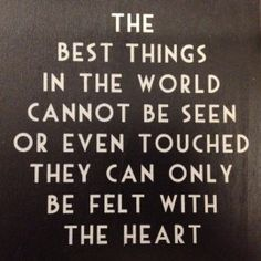 The best things....