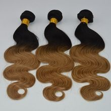 100% remy virgin human <strong>hair</strong> <strong>extension</strong> 8A body wave ombre black to brown 1B to 27# raw Brazilian <strong>hair</strong> for women