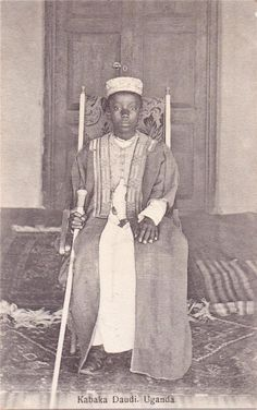 Kabaka Daudi Chwa of the Kingdom of Buganda in Uganda - #EastAfrica (photo) #culture