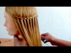 peinado de estilo arabe con trenza de cascada - YouTube