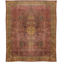 Antique Early 20th Century Indian Carpet | From a unique collection of antique and modern indian rugs at https://www.1stdibs.com/furniture/rugs-carpets/indian-rugs/