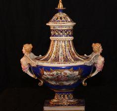 Paris Figured Vase | Charlotte Nail Antiques Showroom 165 at The Houston Design Center