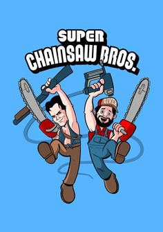 Army of Darkness crossed with Tucker and Dale vs Evil Funny Horror, Horror Art, Horror Movie Characters, Horror Movies, Scary Movies, Good Movies, Tucker And Dale Vs Evil, Ash Evil Dead, Evil Art